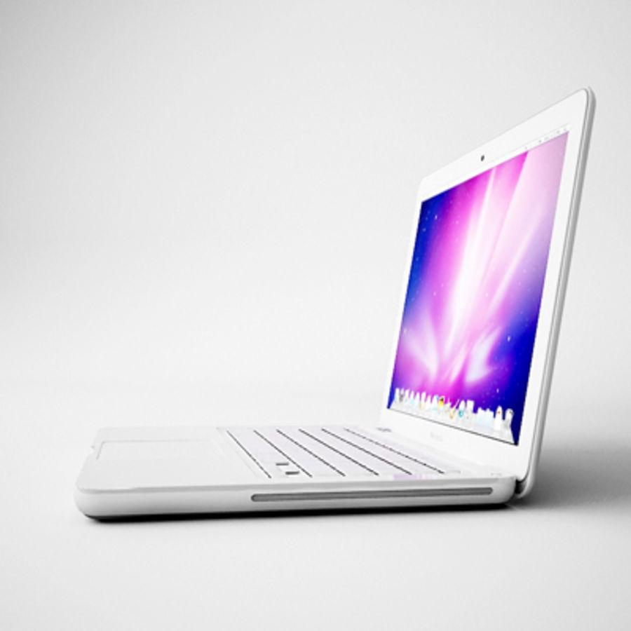 portátil macbook de 13 pulgadas 2010 royalty-free modelo 3d - Preview no. 6