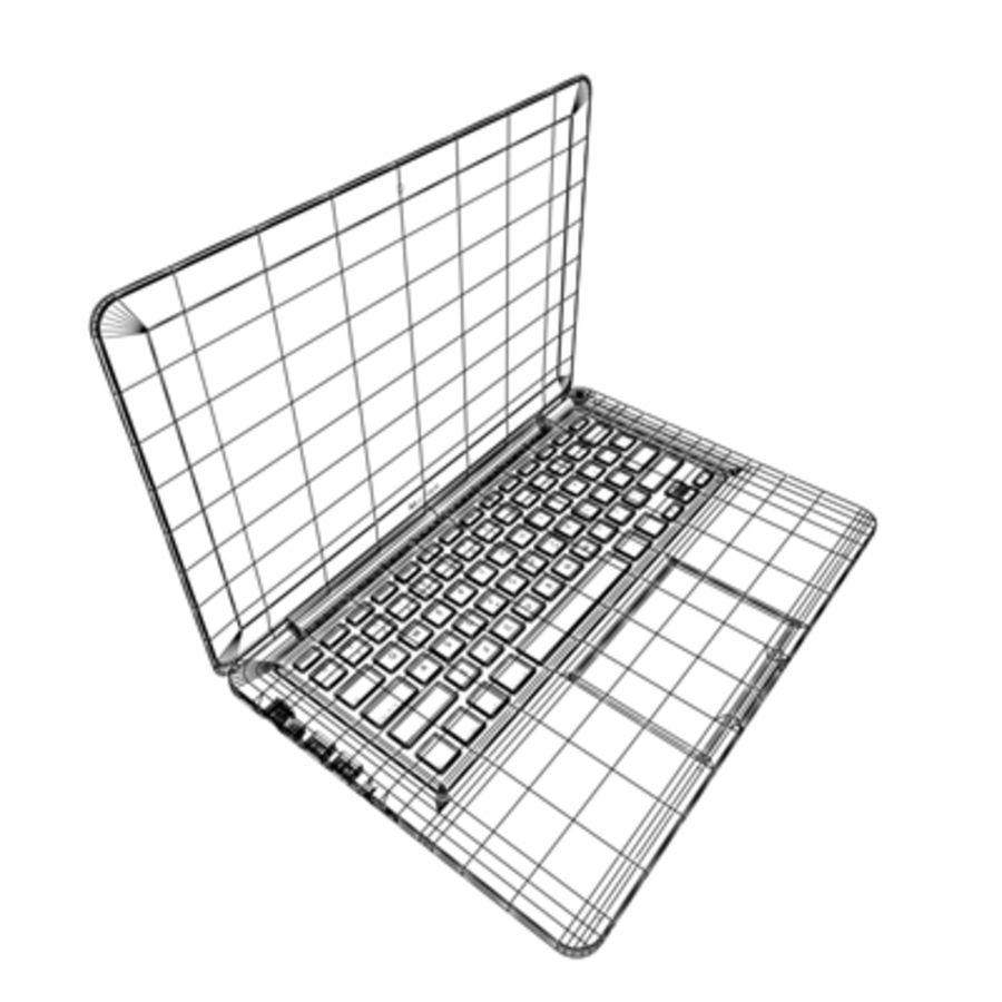 portátil macbook de 13 pulgadas 2010 royalty-free modelo 3d - Preview no. 17