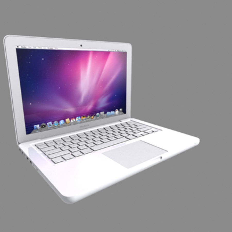 portátil macbook de 13 pulgadas 2010 royalty-free modelo 3d - Preview no. 15