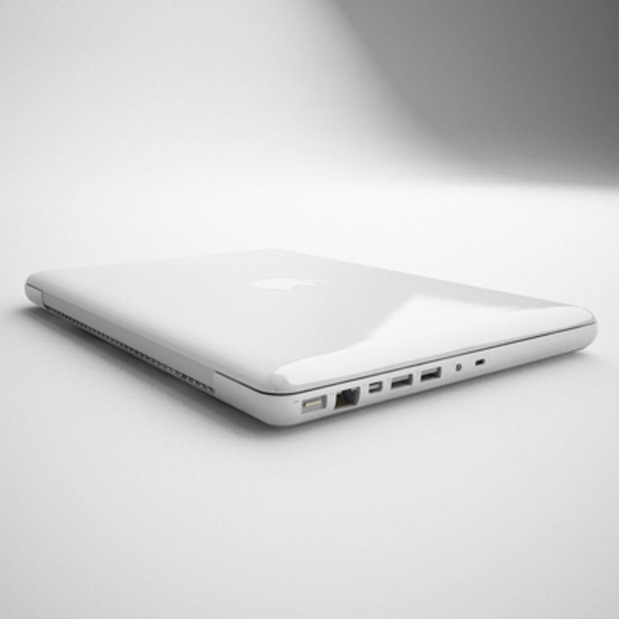 portátil macbook de 13 pulgadas 2010 royalty-free modelo 3d - Preview no. 11