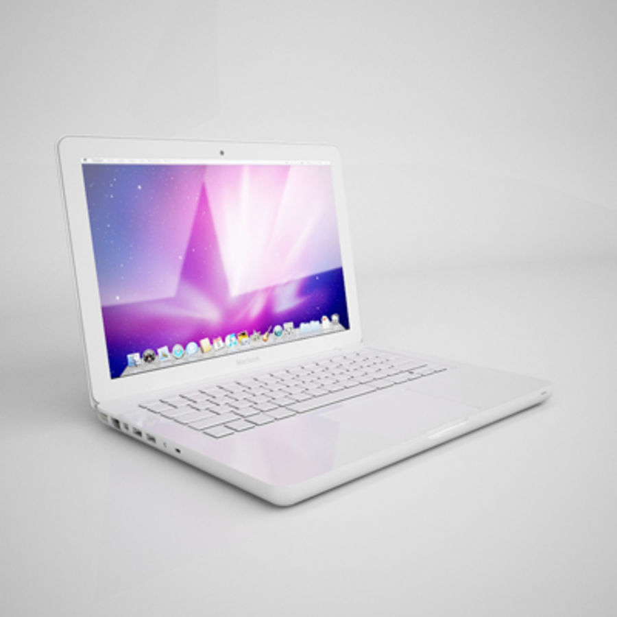 portátil macbook de 13 pulgadas 2010 royalty-free modelo 3d - Preview no. 2