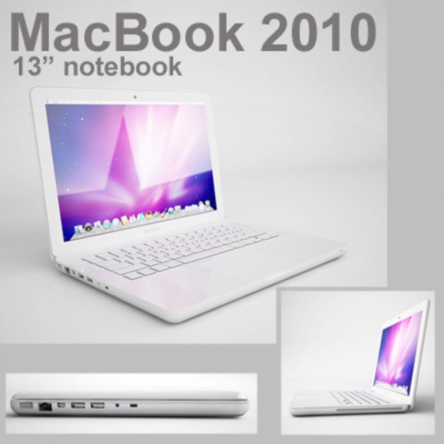 portátil macbook de 13 pulgadas 2010 royalty-free modelo 3d - Preview no. 1