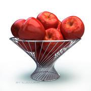 Basket apple red 3d model