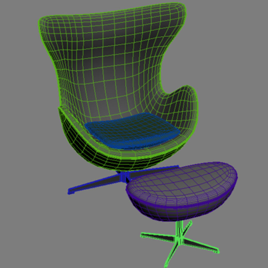 Äggstol 3dsmax royalty-free 3d model - Preview no. 7