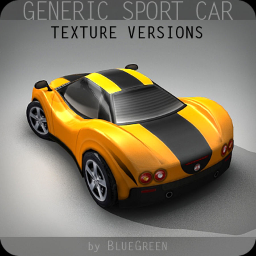 Generic Sport Car royalty-free 3d model - Preview no. 15