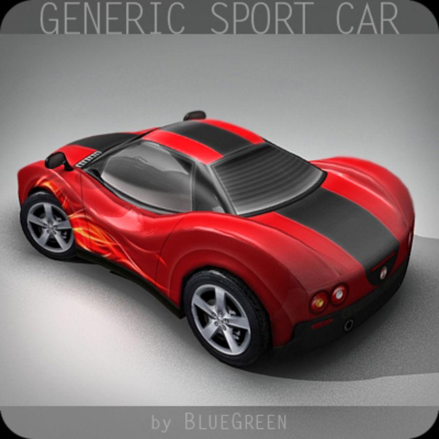 Generic Sport Car royalty-free 3d model - Preview no. 2