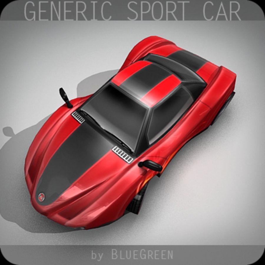Generic Sport Car royalty-free 3d model - Preview no. 4