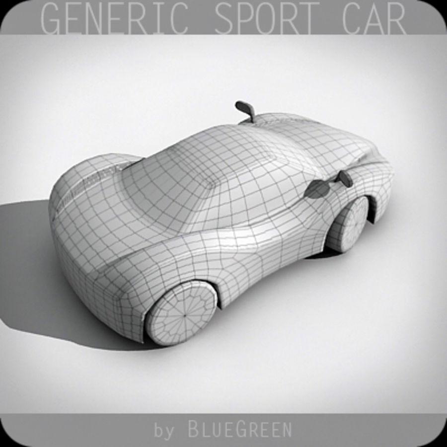 Generic Sport Car royalty-free 3d model - Preview no. 18