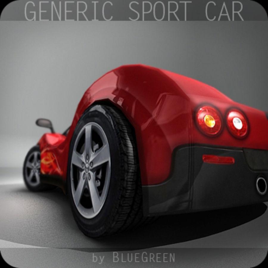 Generic Sport Car royalty-free 3d model - Preview no. 7