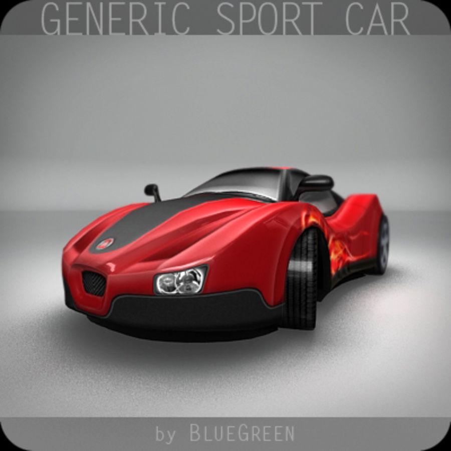 Generic Sport Car royalty-free 3d model - Preview no. 3
