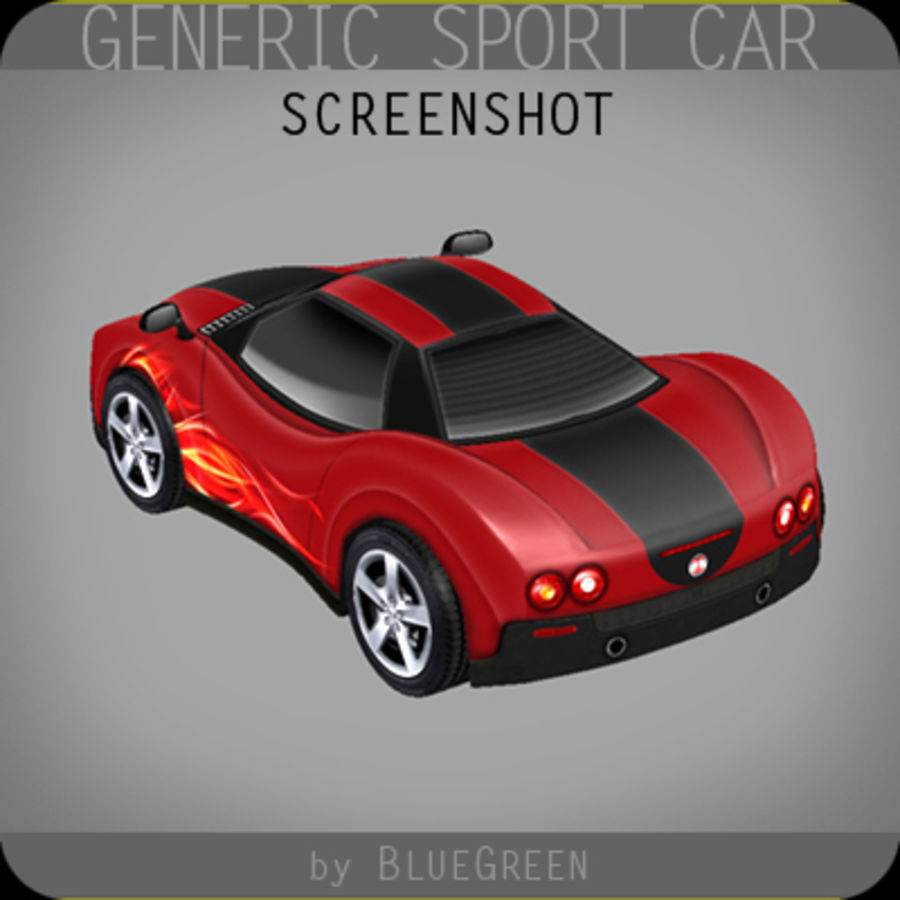 Generic Sport Car royalty-free 3d model - Preview no. 11