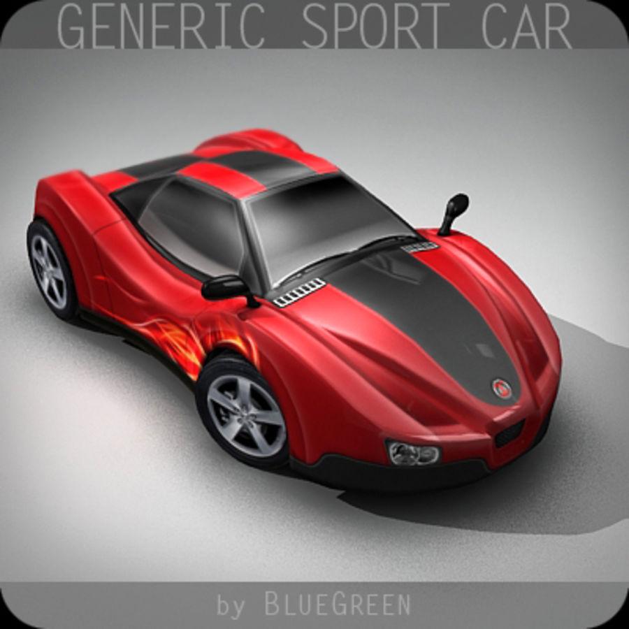 Generic Sport Car royalty-free 3d model - Preview no. 5