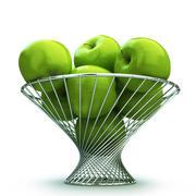 Basket_apple_green 3d model