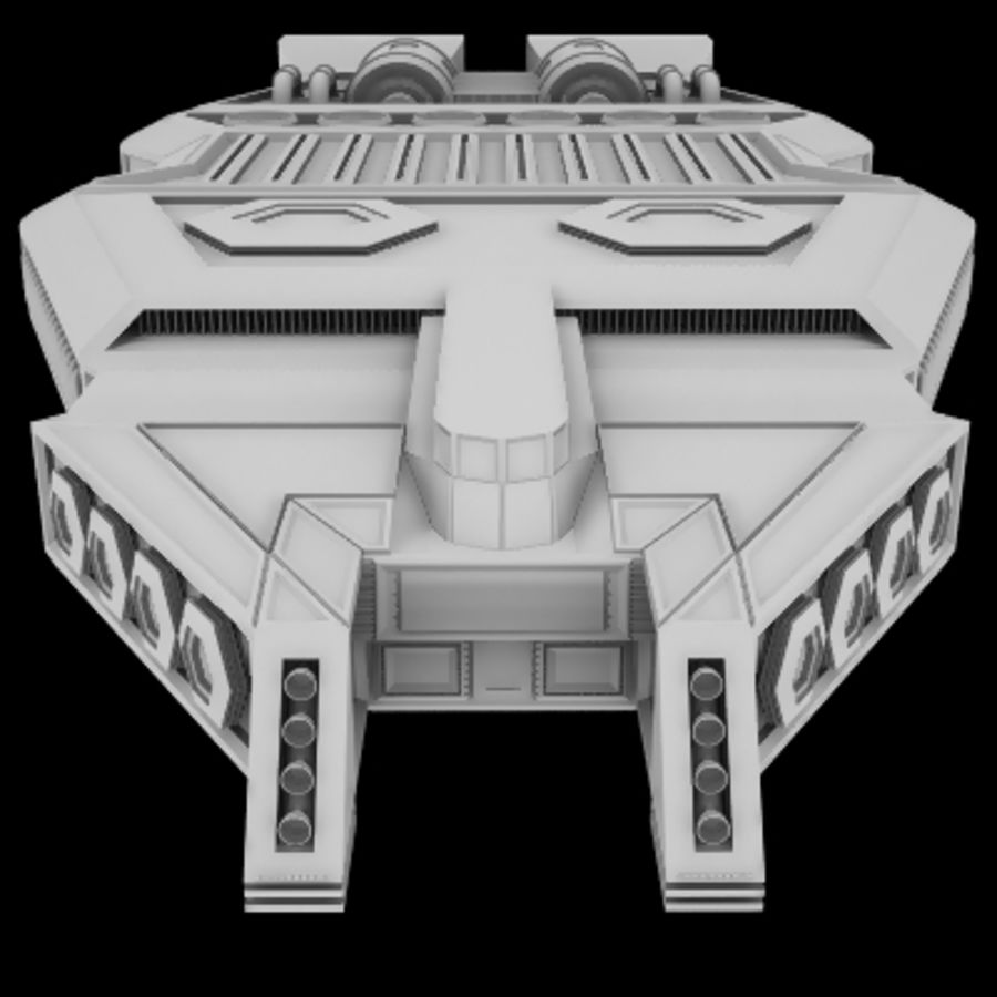 Star Cruiser royalty-free 3d model - Preview no. 5