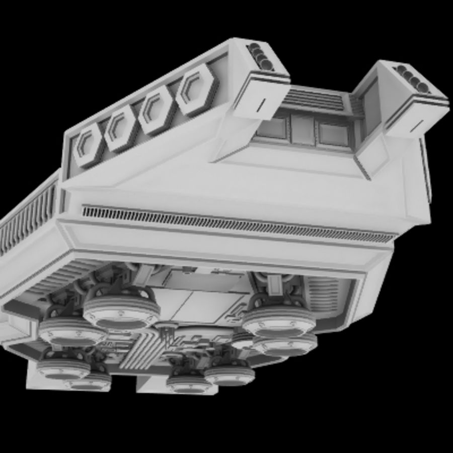Star Cruiser royalty-free 3d model - Preview no. 2
