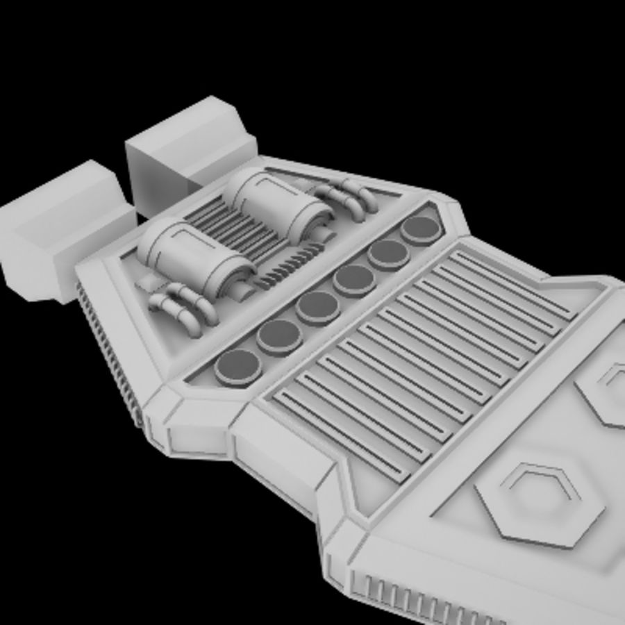 Star Cruiser royalty-free 3d model - Preview no. 6