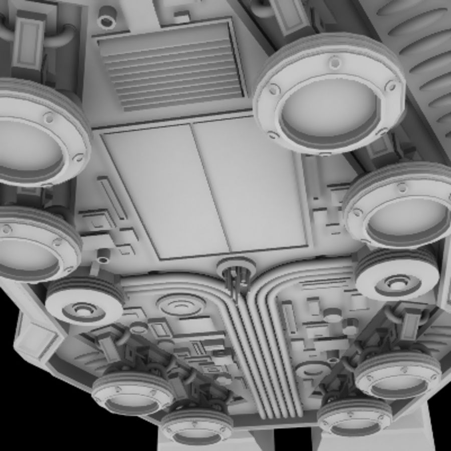 Star Cruiser royalty-free 3d model - Preview no. 1