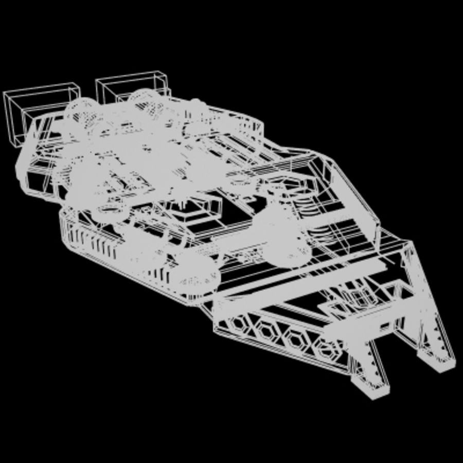Star Cruiser royalty-free 3d model - Preview no. 8