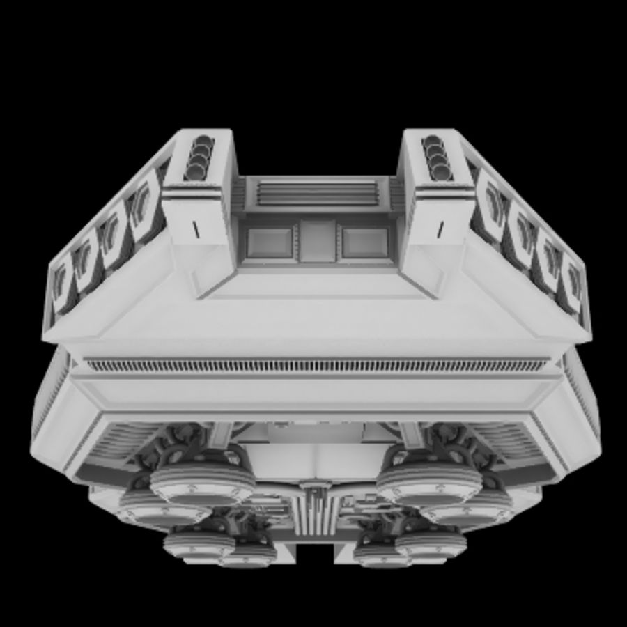 Star Cruiser royalty-free 3d model - Preview no. 3