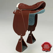 Saddle Icelandic 3d model