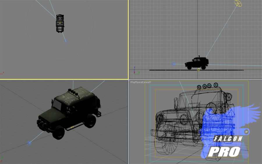 UAZ Russischer Militärjeep royalty-free 3d model - Preview no. 6