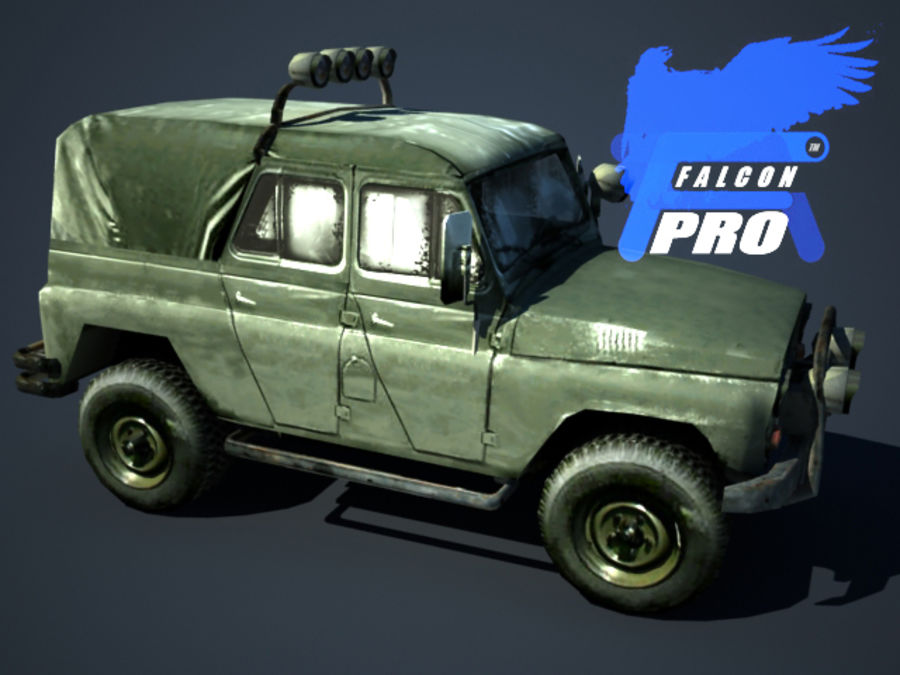 UAZ Jeep militaire russe royalty-free 3d model - Preview no. 2