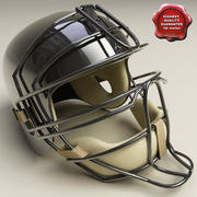 Catcher Baseball Helmet 3d model