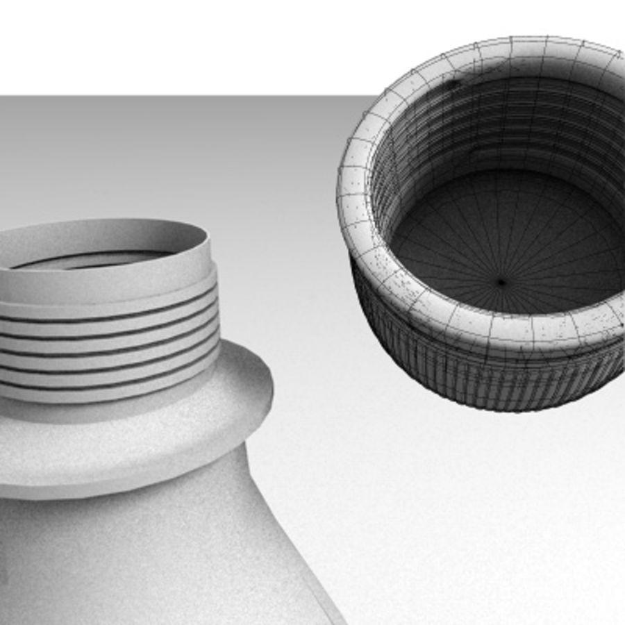 0.5 L Plastic Bottle royalty-free 3d model - Preview no. 4