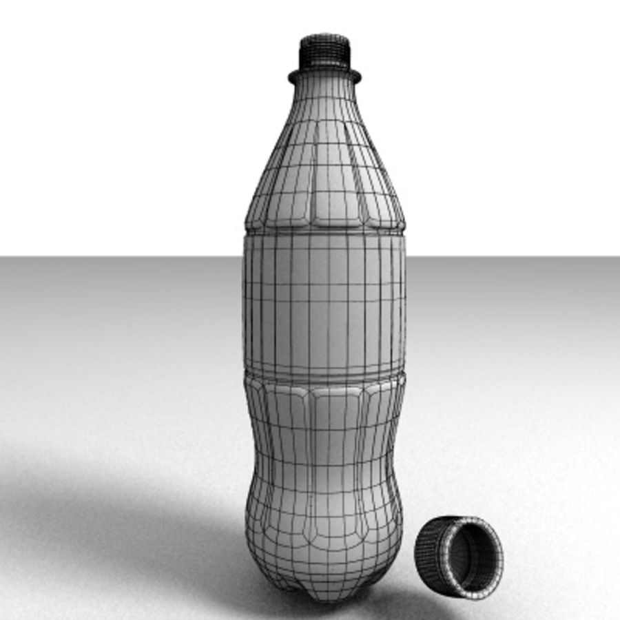 0.5 L Plastic Bottle royalty-free 3d model - Preview no. 3
