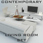Contemporary Living Room Set 3d model