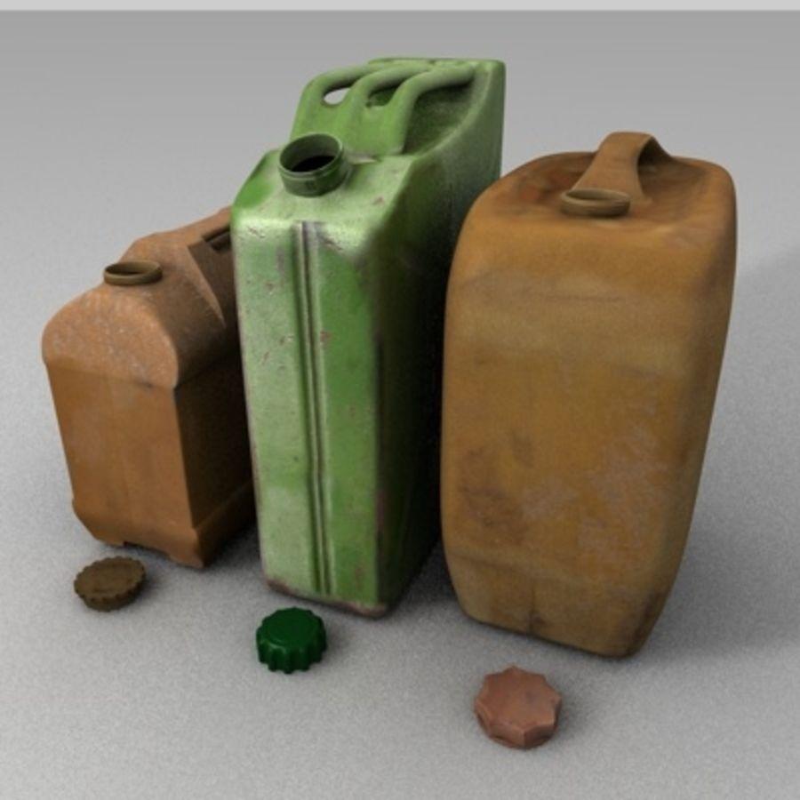 Latas de gas antiguas royalty-free modelo 3d - Preview no. 6