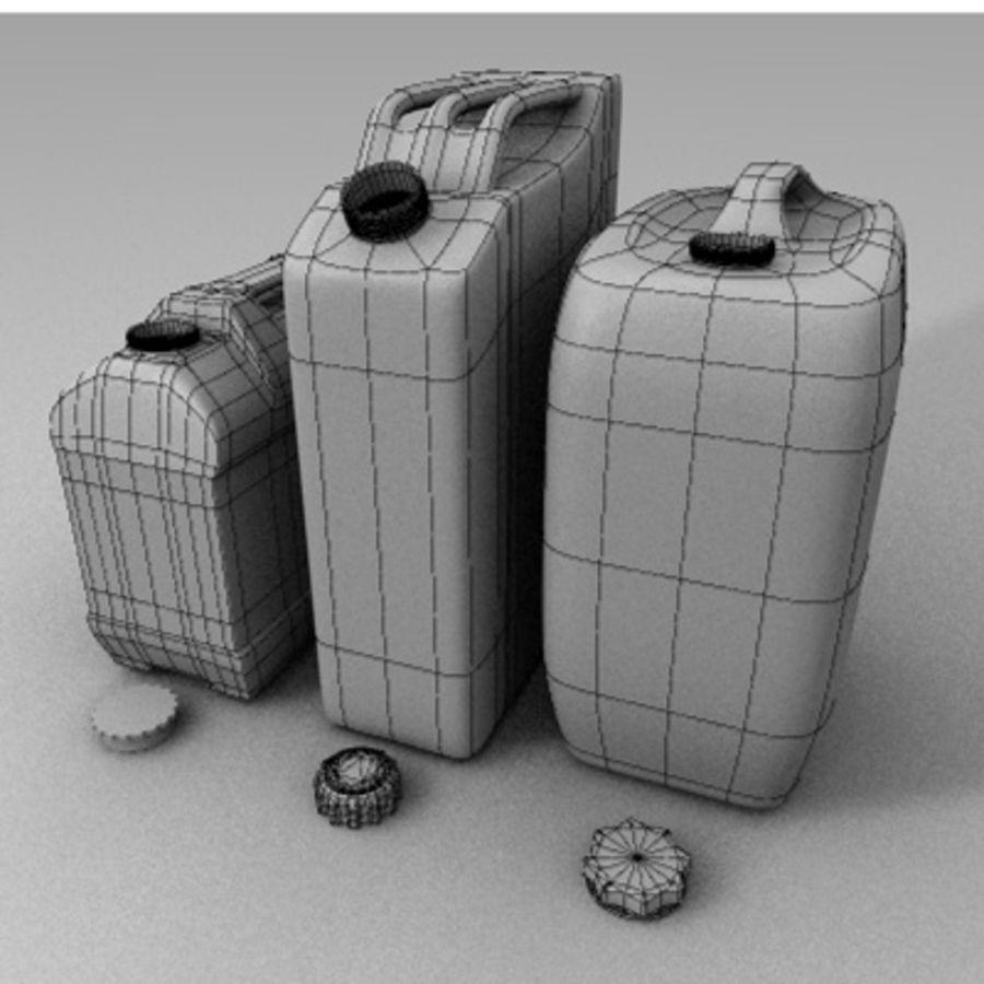 Latas de gas antiguas royalty-free modelo 3d - Preview no. 7