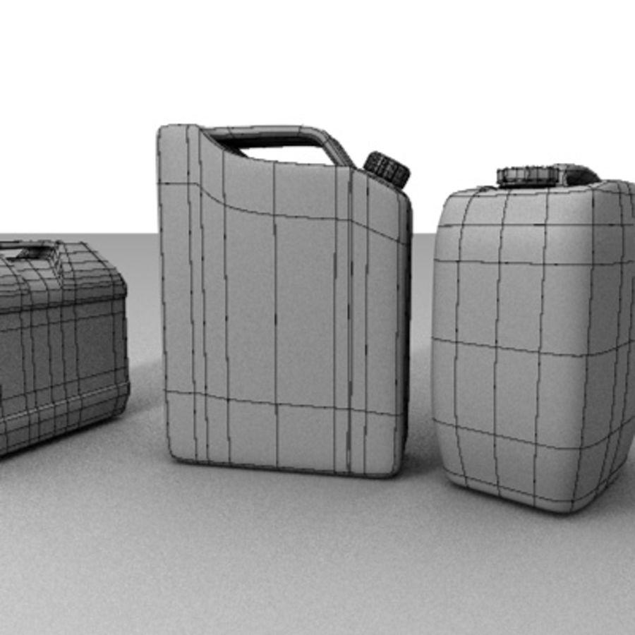 Latas de gas antiguas royalty-free modelo 3d - Preview no. 4