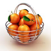Basket oranges 3d model