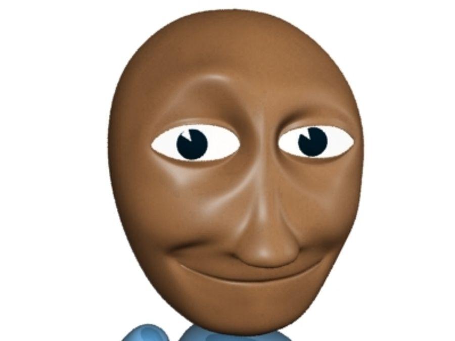 Personaggio dei cartoni animati royalty-free 3d model - Preview no. 4