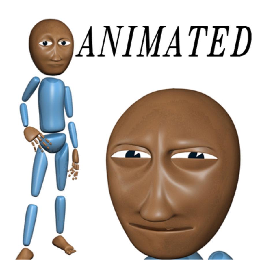 Personaggio dei cartoni animati royalty-free 3d model - Preview no. 1