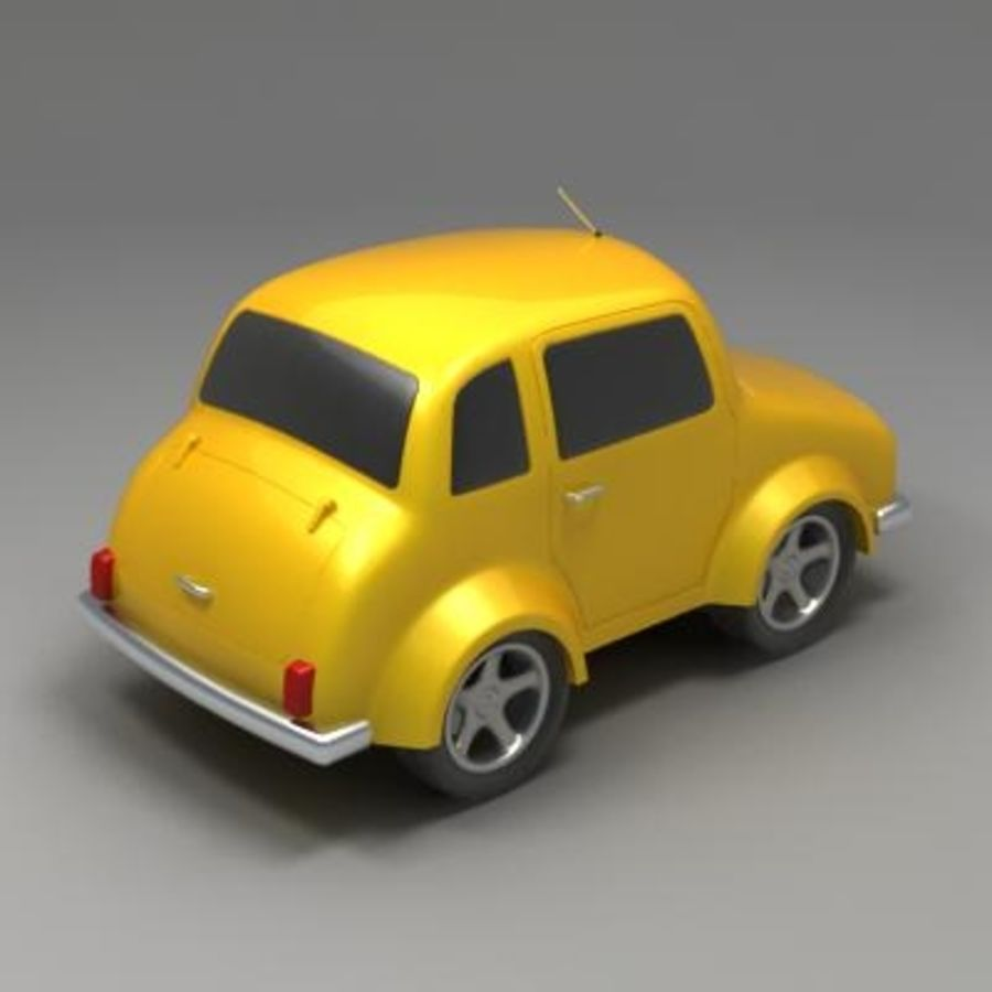 Toon Car royalty-free 3d model - Preview no. 4