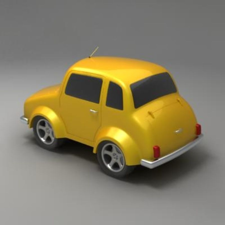 Toon Car royalty-free 3d model - Preview no. 3