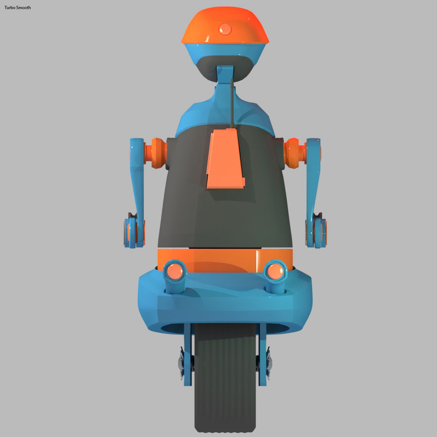 Robot Model 1 royalty-free 3d model - Preview no. 7