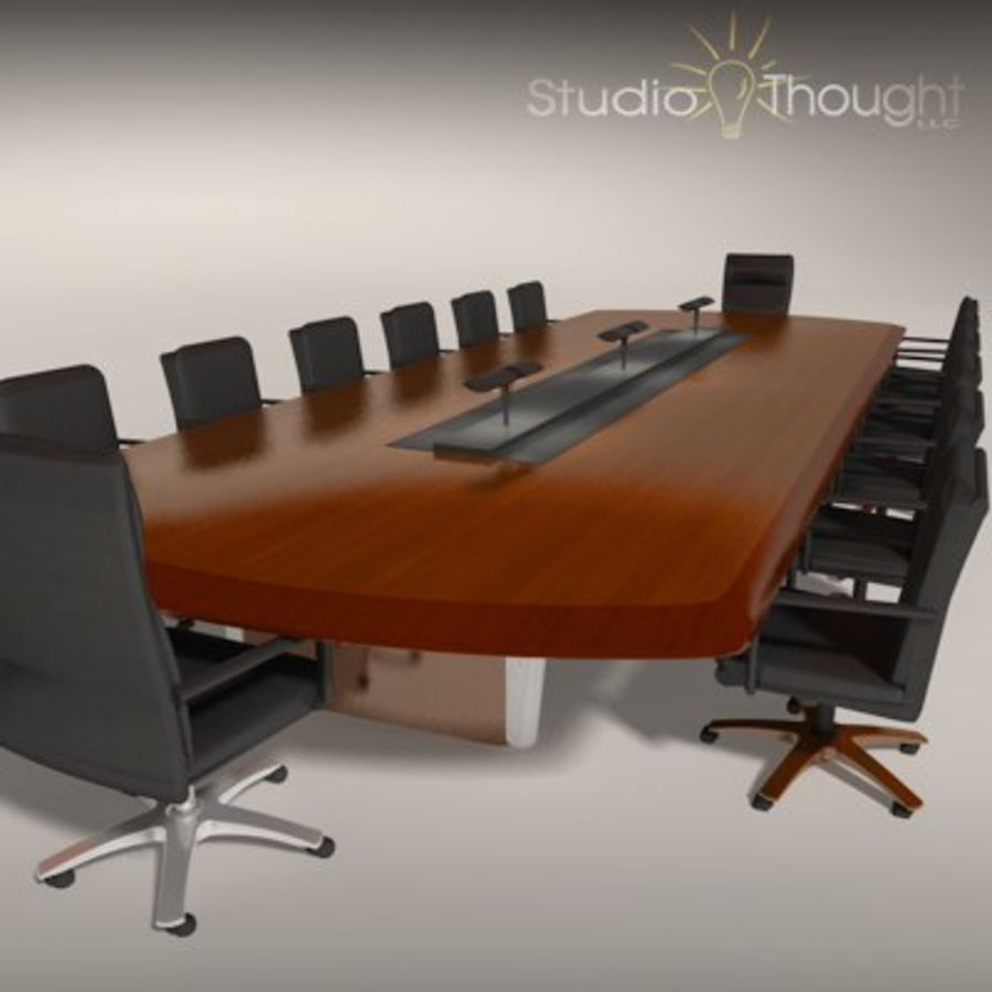 Conference Room Table/ Chairs - Architectural interior royalty-free 3d model - Preview no. 1