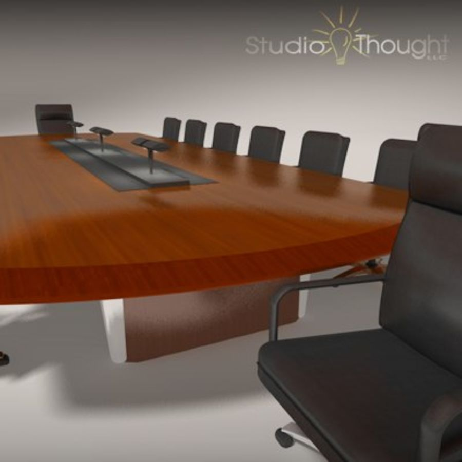 Conference Room Table/ Chairs - Architectural interior royalty-free 3d model - Preview no. 11
