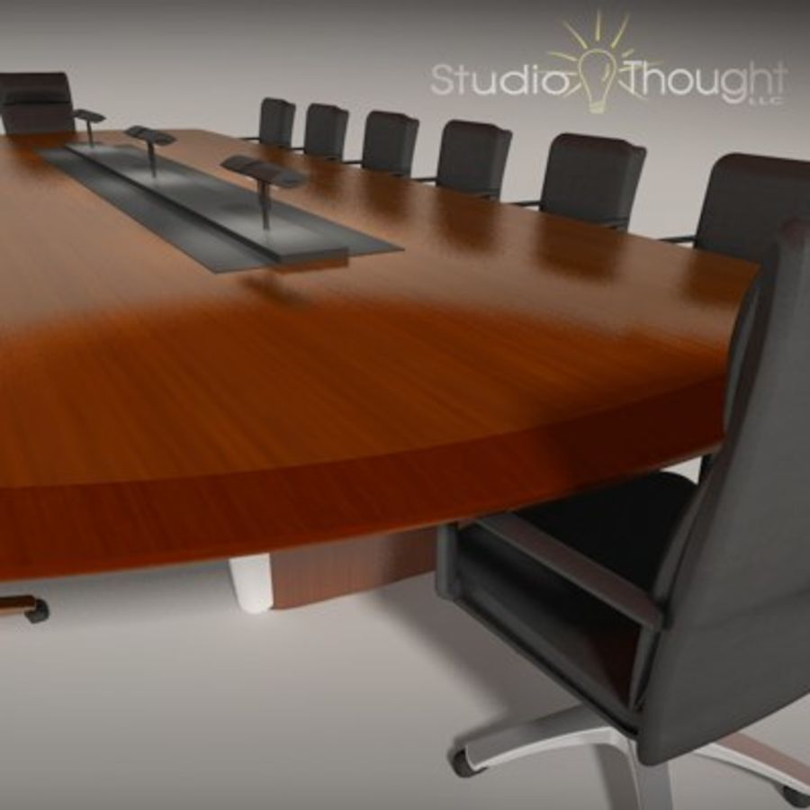 Conference Room Table/ Chairs - Architectural interior royalty-free 3d model - Preview no. 13