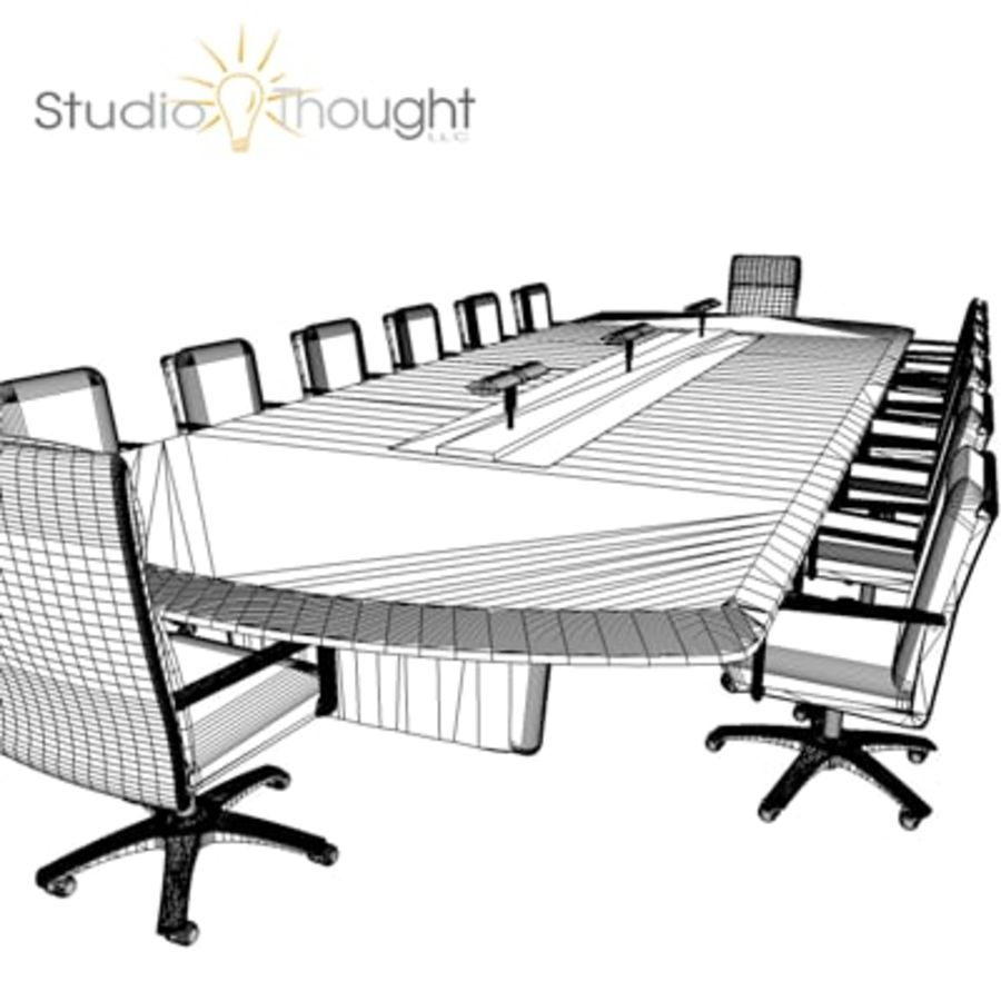 Conference Room Table/ Chairs - Architectural interior royalty-free 3d model - Preview no. 9