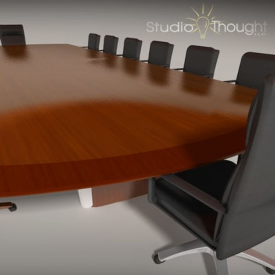 Conference Room Table/ Chairs - Architectural interior royalty-free 3d model - Preview no. 14