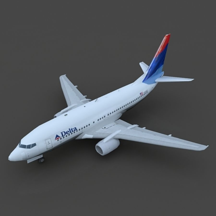 B 737 lowpoly royalty-free 3d model - Preview no. 5