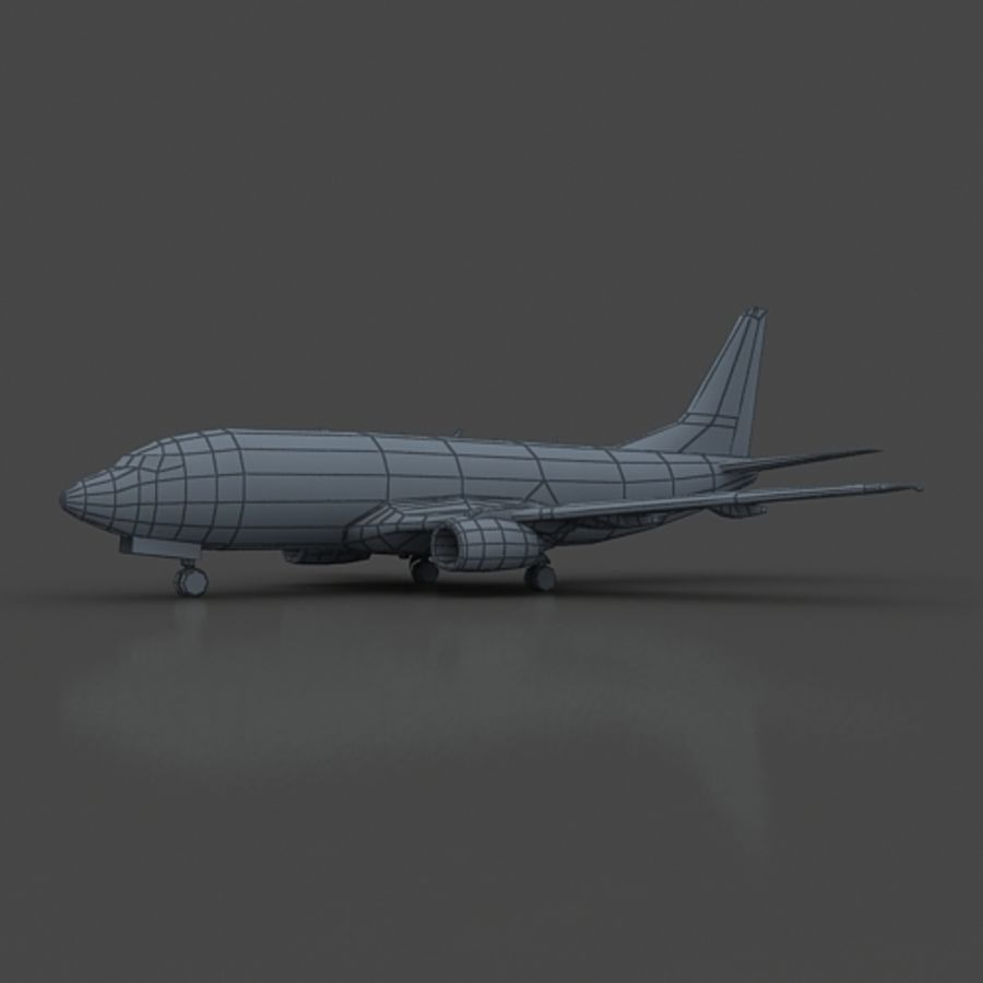 B 737 lowpoly royalty-free 3d model - Preview no. 4