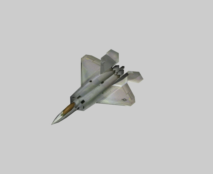 F22 랩터 royalty-free 3d model - Preview no. 1