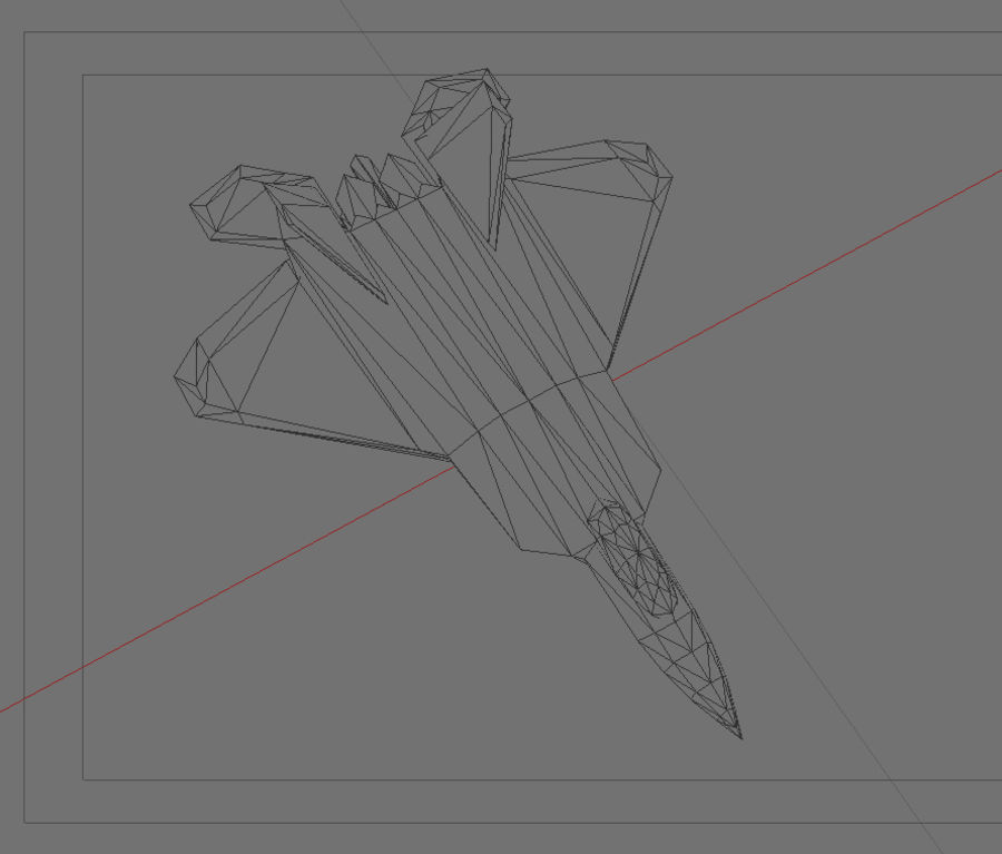 F22 랩터 royalty-free 3d model - Preview no. 4