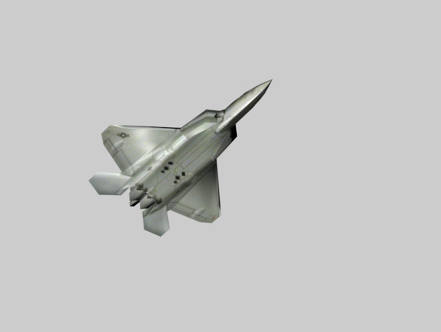 F22 랩터 royalty-free 3d model - Preview no. 2