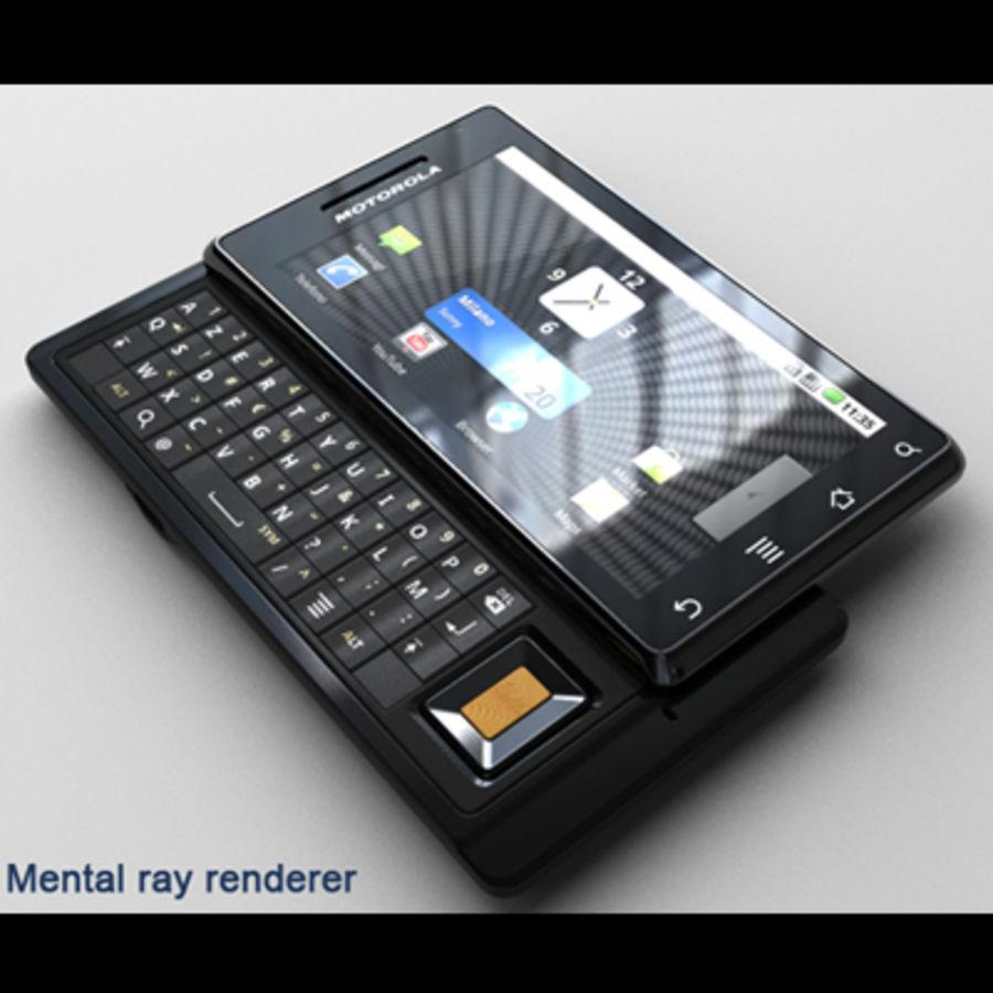 Motorola Milestone royalty-free 3d model - Preview no. 35